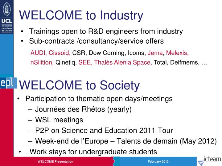 WELCOME to Industry