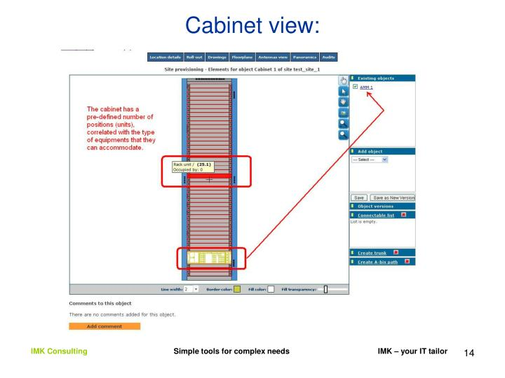 Cabinet view: