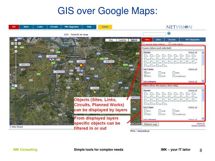 GIS over Google Maps: