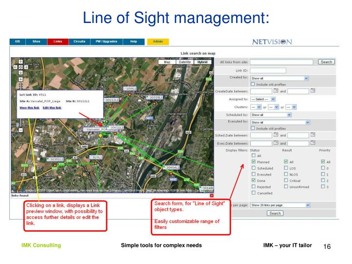 Line of Sight management: