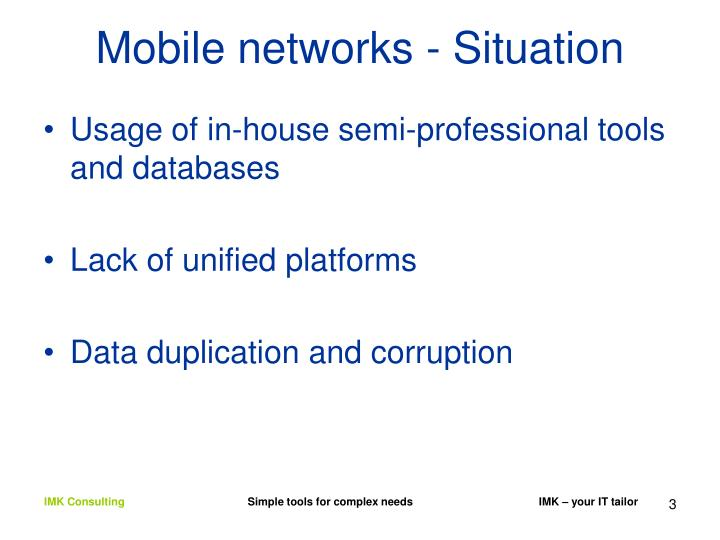 Mobile networks situation1