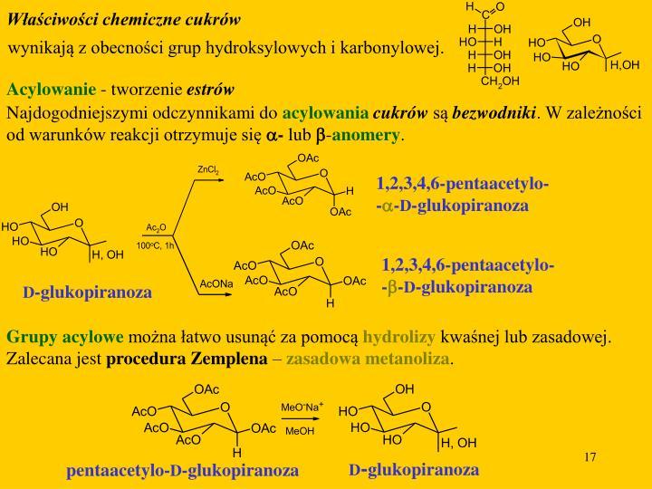 Właściwości chemiczne cukrów