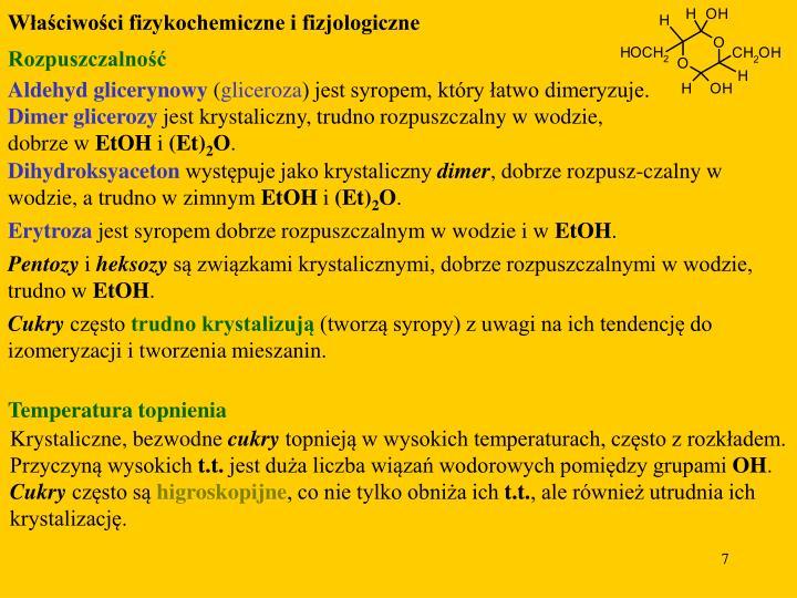 Właściwości fizykochemiczne i fizjologiczne