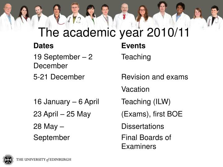 The academic year 2010/11