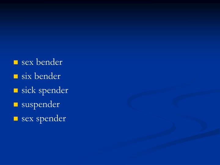 sex bender