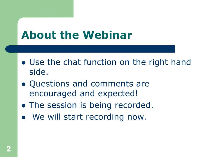 About the Webinar