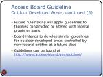 access board guideline outdoor developed areas continued 3