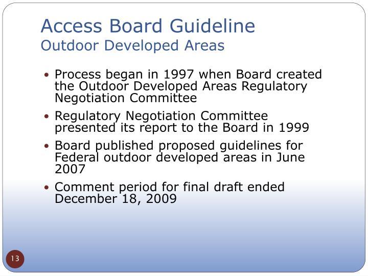 Access Board Guideline