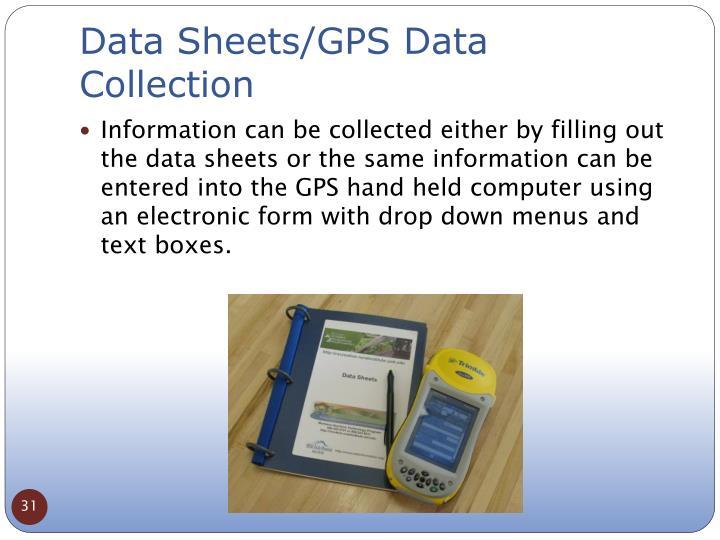 Data Sheets/GPS Data Collection