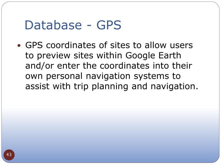 Database - GPS