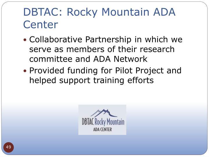 DBTAC: Rocky Mountain ADA Center
