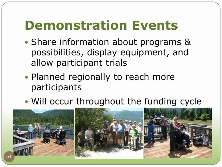 Demonstration Events