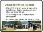 demonstration events
