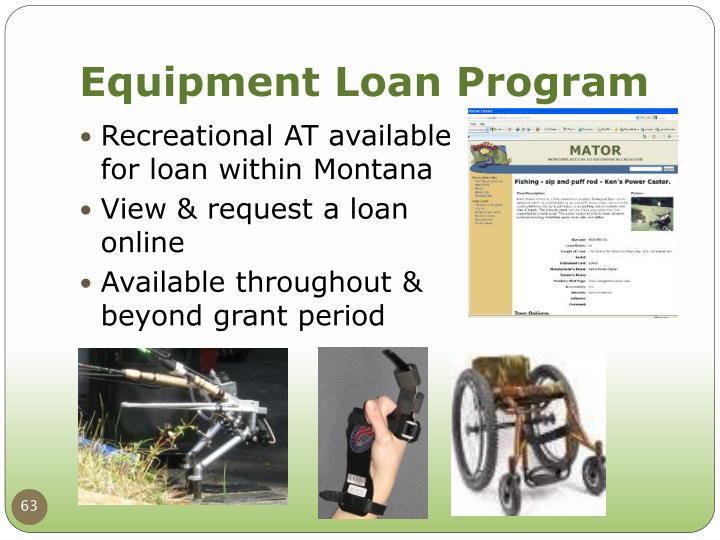 Equipment Loan Program