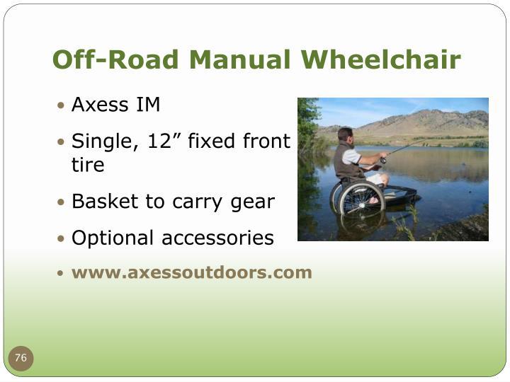 Off-Road Manual Wheelchair