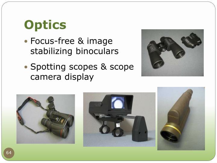 Focus-free & image stabilizing binoculars
