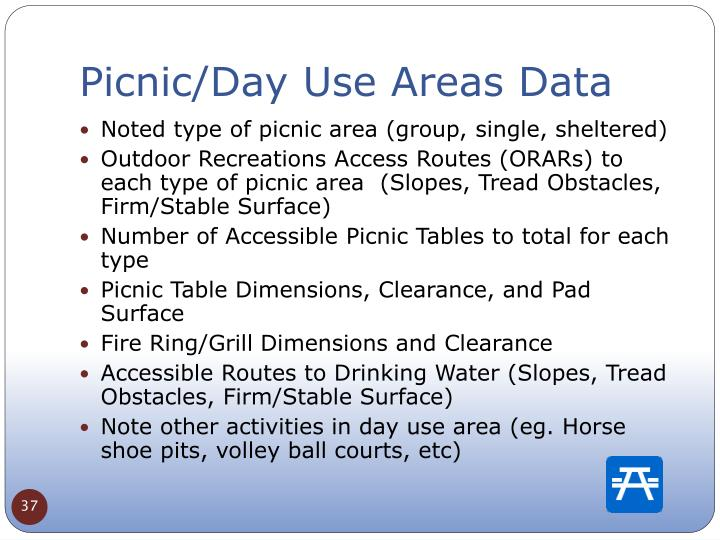Picnic/Day Use Areas Data