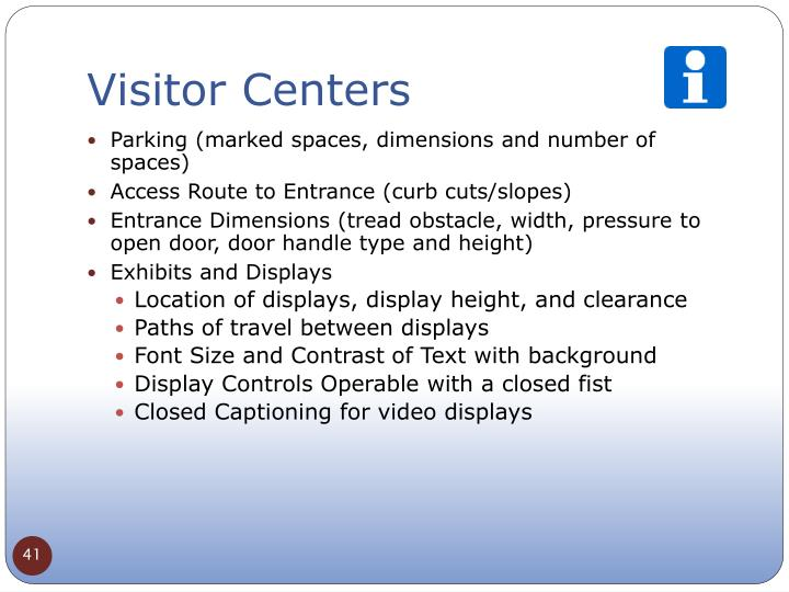 Visitor Centers
