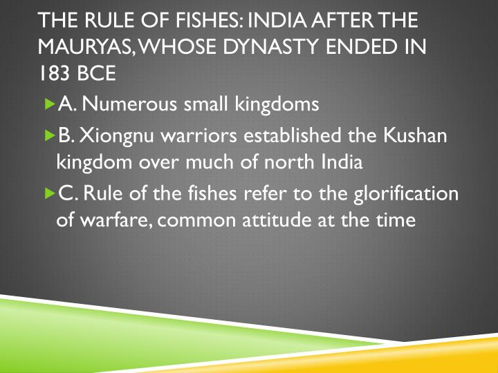 The RULE OF FISHES: India after the