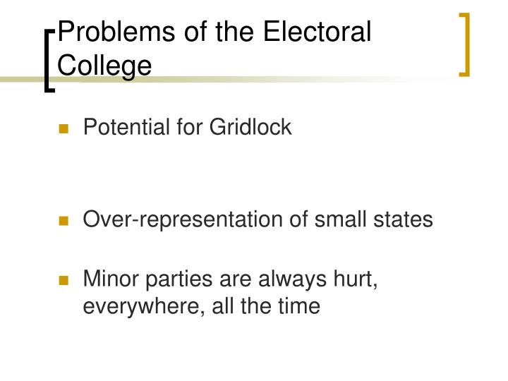 Problems of the Electoral College