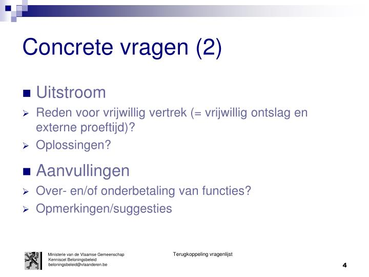 Concrete vragen (2)