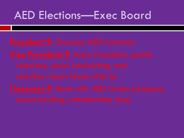 Aed elections exec board