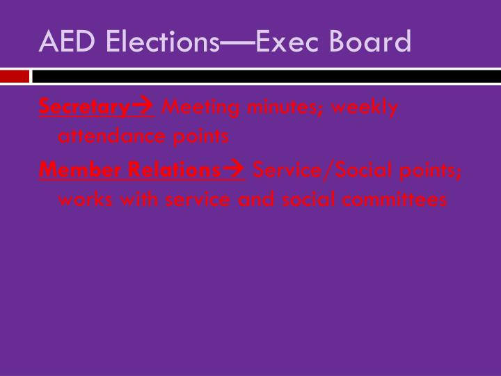 Aed elections exec board1