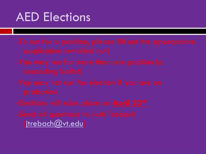 AED Elections