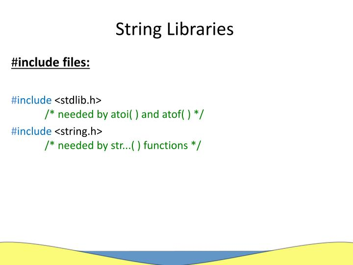 String Libraries