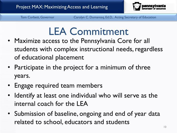 LEA Commitment