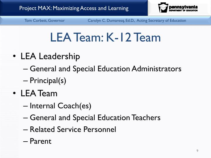 LEA Team: K-12 Team