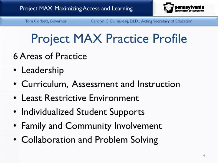 Project MAX Practice Profile