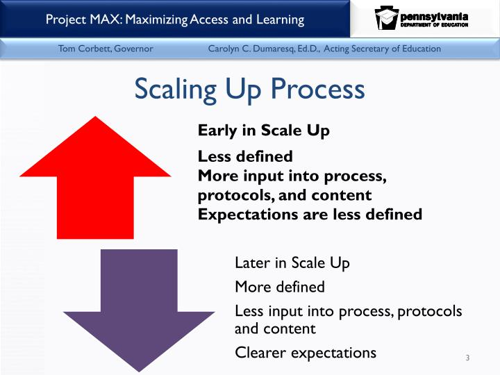 Scaling up process