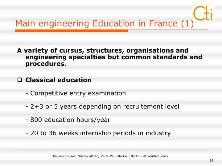 Main engineering Education in France (1)