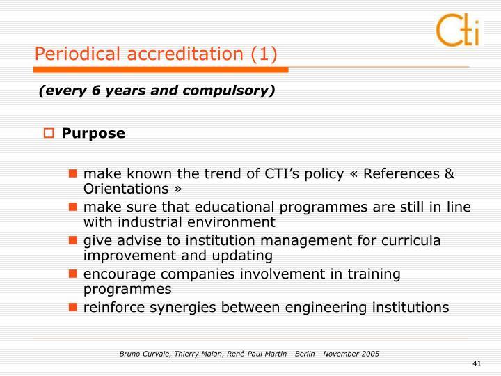 Periodical accreditation (1)