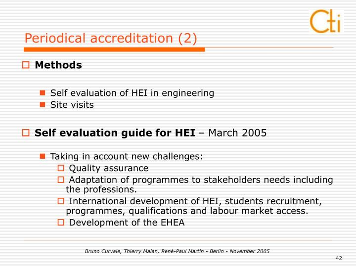 Periodical accreditation (2)