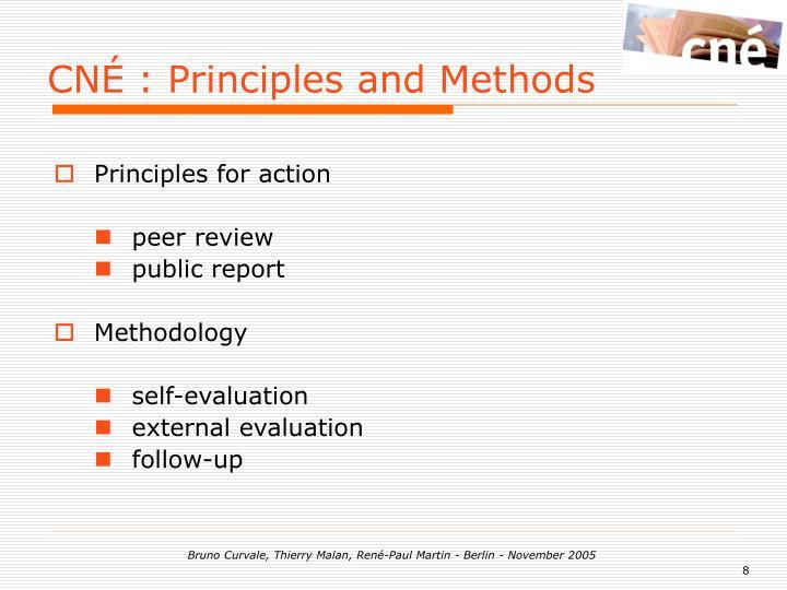 CNÉ : Principles and Methods