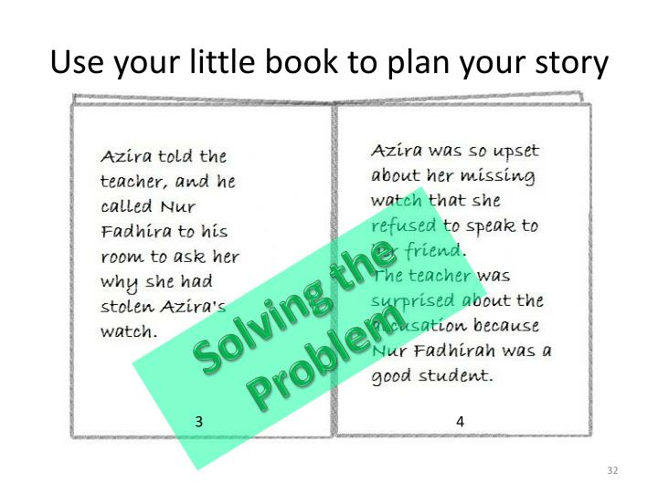 Use your little book to plan your story