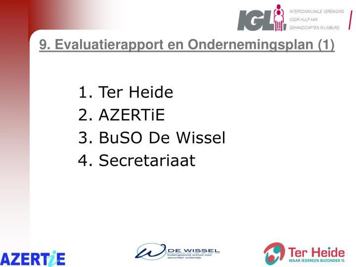 9. Evaluatierapport en Ondernemingsplan (1)