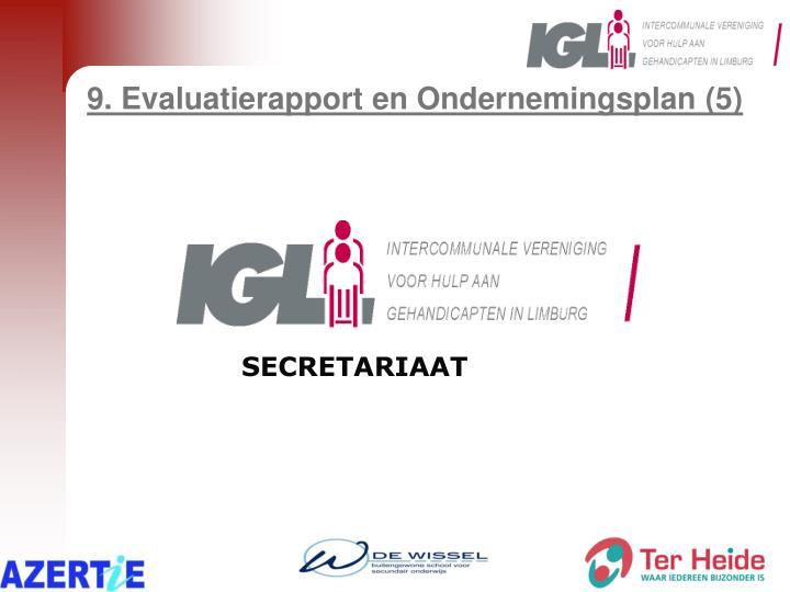 9. Evaluatierapport en Ondernemingsplan (5)