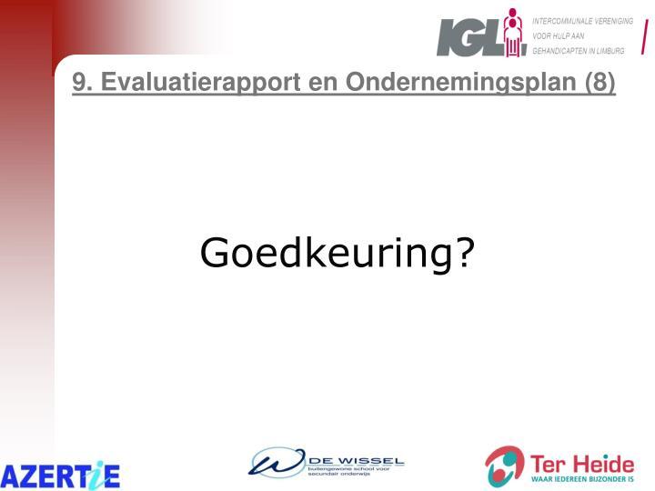 9. Evaluatierapport en Ondernemingsplan (8)