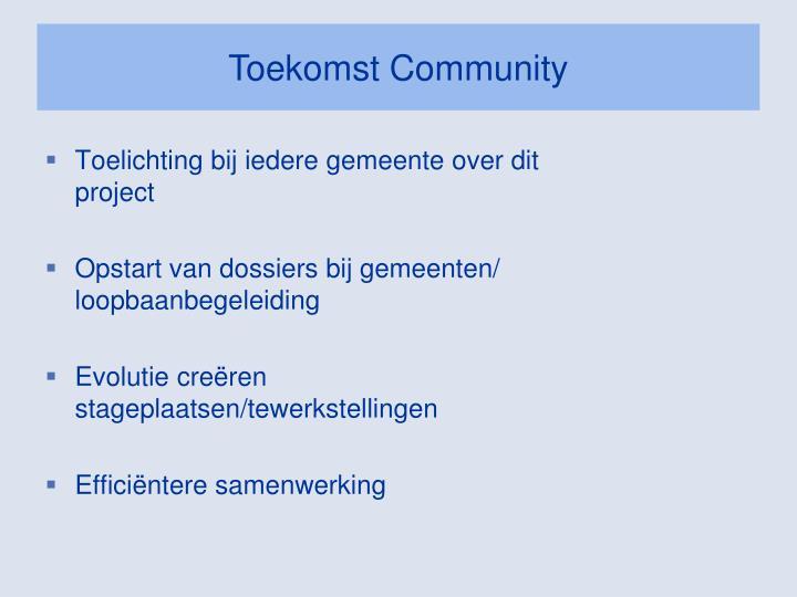 Toekomst Community
