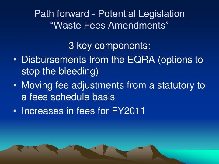 Path forward - Potential Legislation