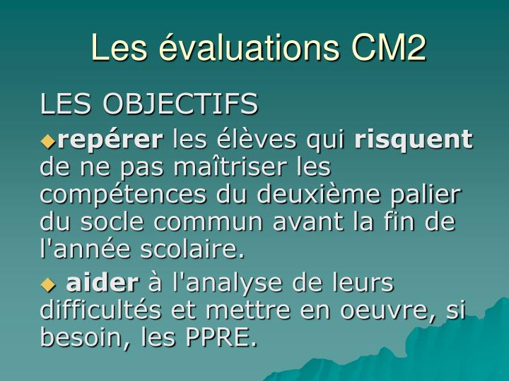 Les valuations cm2