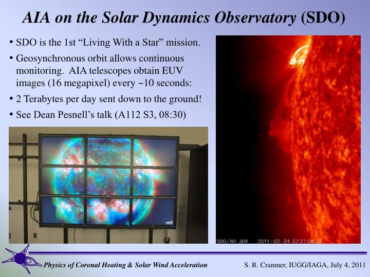 AIA on the Solar Dynamics Observatory