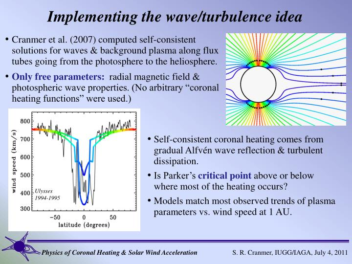 Implementing the wave/turbulence idea