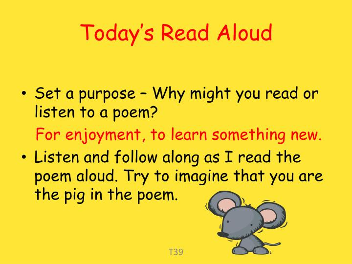 Today s read aloud