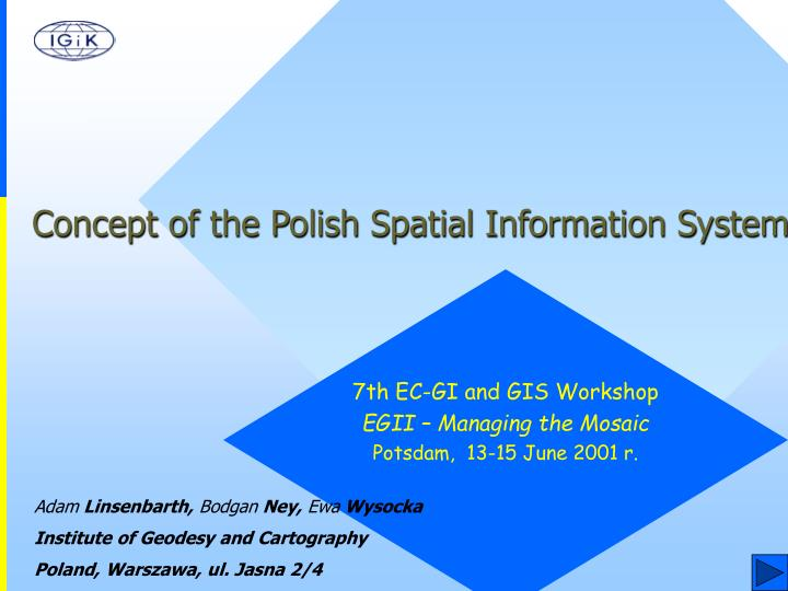 Concept of the Polish Spatial Information System