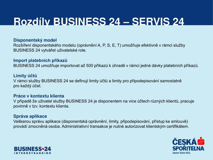 Rozdíly BUSINESS 24