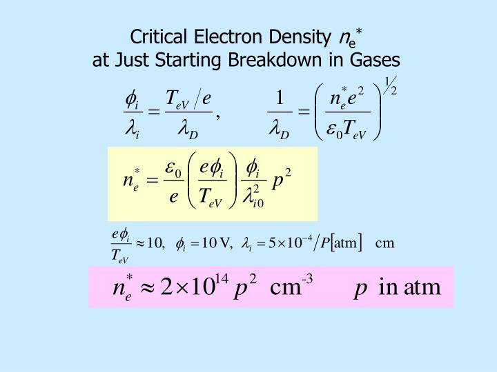 Critical Electron Density